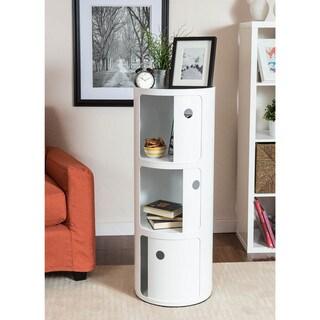 Somette Gavins Room Large White 3-Compartment Storage Unit