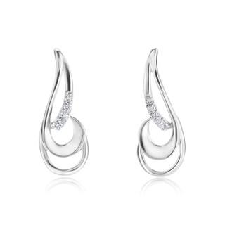SummerRose 14k White Gold Diamond Accent Swirl Earrings (H-I, SI1-SI2)