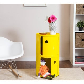 Somette Gavins Room Large Yellow 2-Compartment Storage Unit
