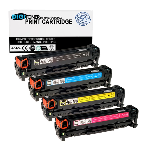 4pk Compatible HP 305a 305x (ce410x Ce411a Ce412a Ce413a) Combo Multi Color Toner Cartridge for HP Pro 300 400