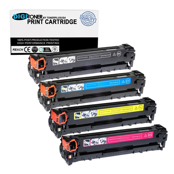 4pk Compatible HP 131a Cf210a Cf211a Cf212a Cf213a (black Cyan Yellow Magenta) Toner Cartridge for Laserjet Pro 200