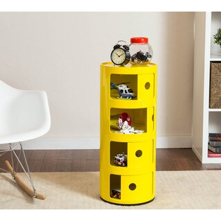 Somette Gavins Room Yellow 4-Compartment Storage Unit