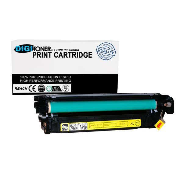 1pk Compatible HP 504a Ce252a Yellow Color Laser Toner Cartridge for Cm3530 Cp3525 Series
