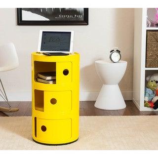 Somette Gavins Room Yellow 3-Compartment Storage Unit