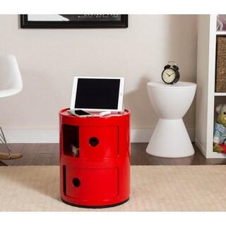 Somette Gavins Room Red 2-Compartment Storage Unit