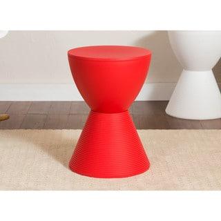 Upton Home Kayden Indoor Outdoor Red Metal Accent Table