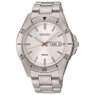 Seiko Men's SGGA73 Stainless Steel 100M Water Resistant Day Date Watch
