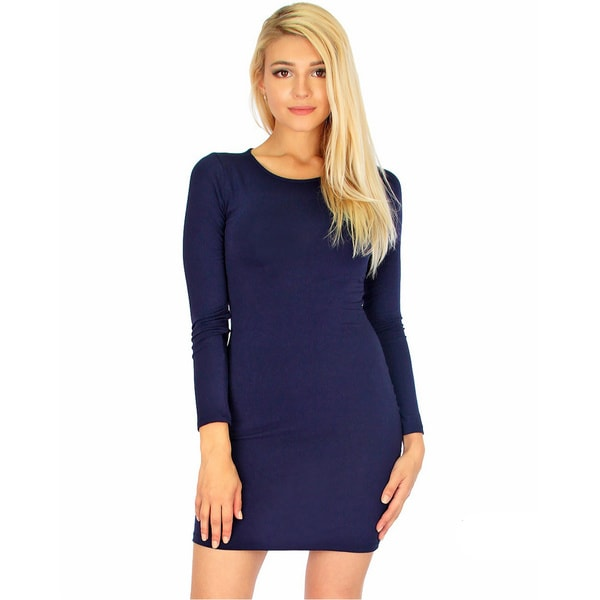Women's Long-Sleeve Bodycon Dress