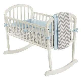 Minky Chevron Cradle Bedding