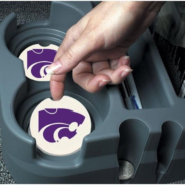 Kansas State Wildcats Absorbent Stone Car Coaster (Set of 2) 17209786