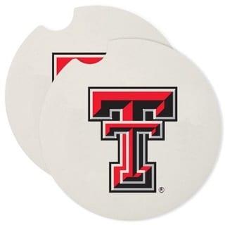 Texas Tech Absorbent Stone Car Coaster (Set of 2)