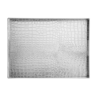 Elements 19x14 Silver Croc Serving Tray