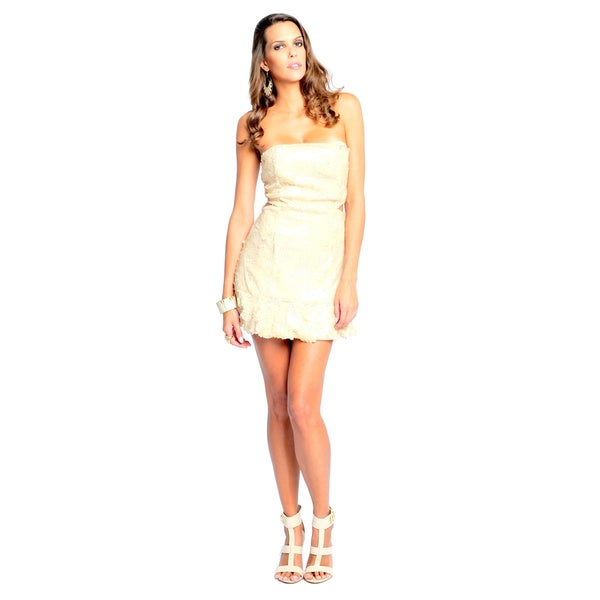 Sara Boo Women's Cut Out Sequin Dress