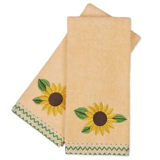 Peri Home Sunflower Fingertip Towels (Set of 2)