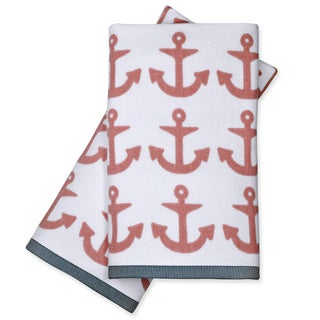 Peri Home Anchor Fingertip Towels (Set of 2)
