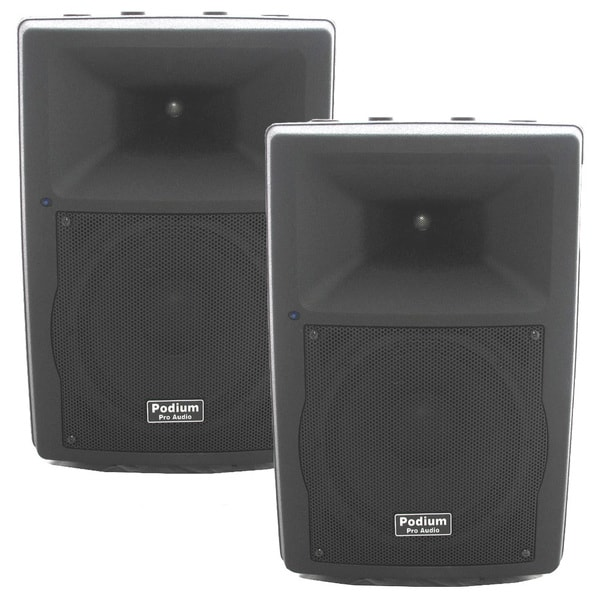 Podium Pro Audio PP1007A Bluetooth 10-inch Active Speaker Pair MP3 1000W PA DJ Karaoke PP1007A-PR
