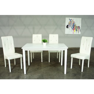 Warehouse of Tiffany Dita 5-piece White Dining Set