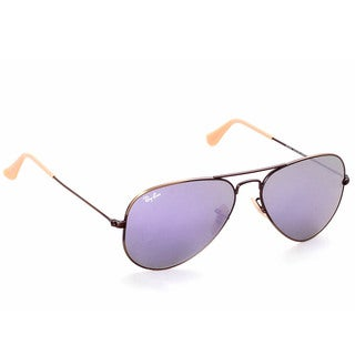 Ray-Ban RB3025 167/4K Aviator Flash Lenses Bronze/Copper Frame Lilac Mirror 58mm Lens Sunglasses