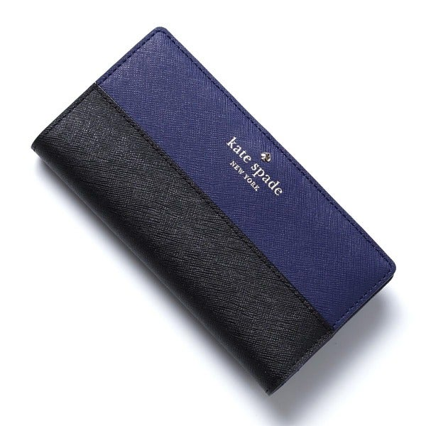 Kate Spade New York Cedar Street Stacy Indigo/ Black Continental Bi-fold Wallet