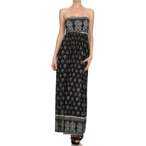 Women's Navy Strapless Maxi Dress