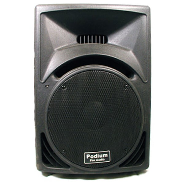 Podium Pro PP1210 PA DJ Karaoke Band Black 750 Watt 12-inch Two Way ABS Plastic Speaker