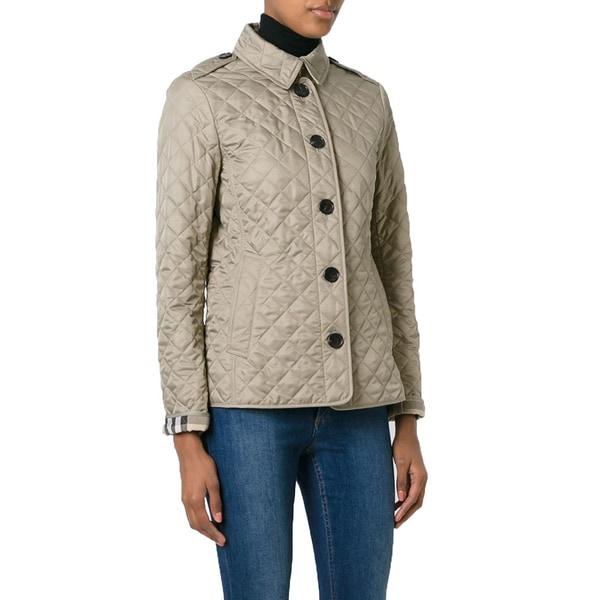 Burberry Ashurst Mushroom Beige Quilted Jacket (Extra Large)