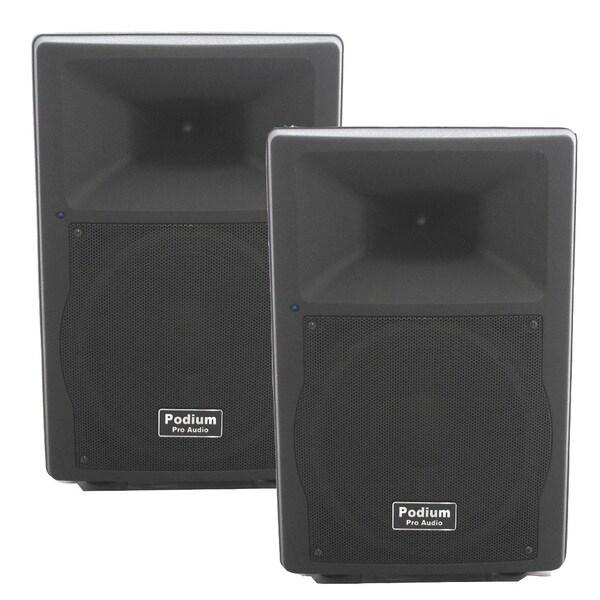 Podium Pro PP1207A Bluetooth 12-inch Active Speaker Pair MP3 1200W PA DJ Karaoke PP1207A-PR
