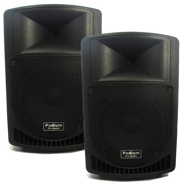 Podium Pro PP1206A Battery Powered 12-inch Active Speaker Pair with MP3 Players 1200W PP1206A-PR