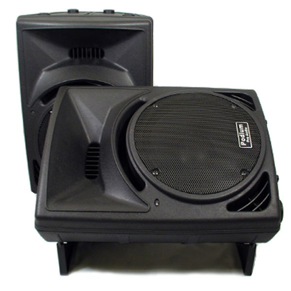 Podium Pro PP1010 PA DJ Karaoke Band Black 10-inch Two Way ABS Plastic Speaker Pair PP1010-PR