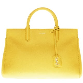 Saint Laurent Small Cabas Rive Gauche Yellow Bag
