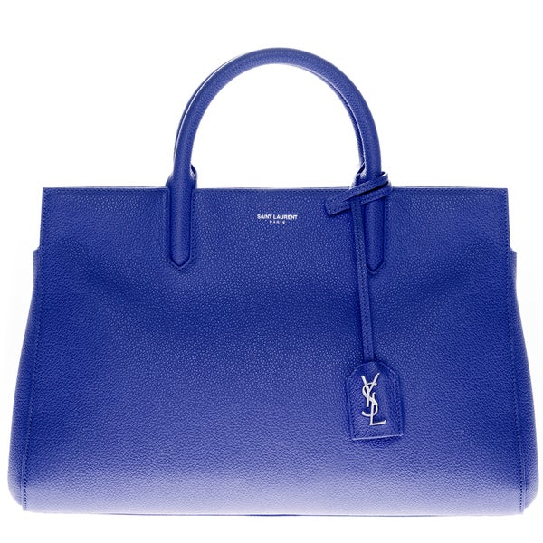 Saint Laurent Small Cabas Rive Gauche Blue Bag