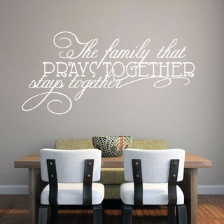 The Family That Prays Together Wall Decal 34-inch wide x 16-inch tall