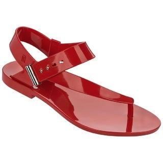Melissa + Jason Wu Charlotte Red Jelly Thong Sandals