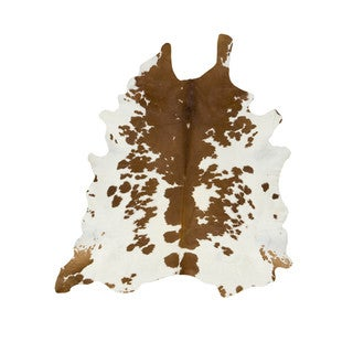 Brown White Special Cowhide Rug (Brazil)