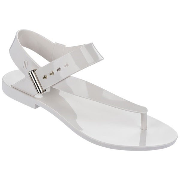 Melissa + Jason Wu Charlotte White Jelly Thong Sandals