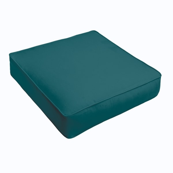 Sloane Teal Corded Indoor/ Outdoor Square Cushion