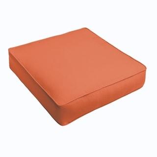 Sloane Mandarin Orange Corded Indoor/ Outdoor Square Cushion