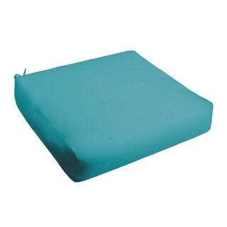 Sloane Aqua Blue Indoor/ Outdoor Square Cushion