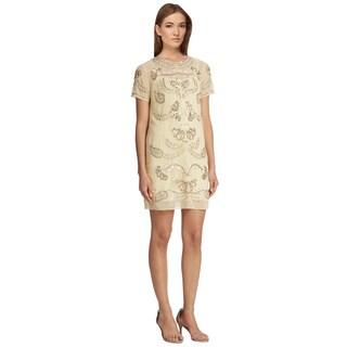 Needle & Thread Embellished Short Sleeve Shift Cocktail Dress (Size 6)