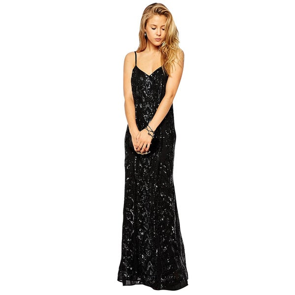 Needle & Thread Embellished Maxi Evening Gown (Size 6)