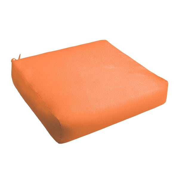 Sloane Bright Orange Indoor/ Outdoor Square Cushion