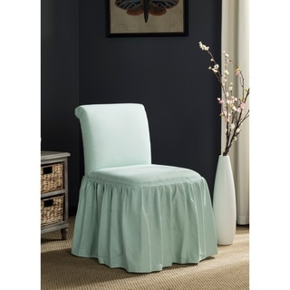 Safavieh Ivy Robins Egg Blue Linen Blend Vanity Chair