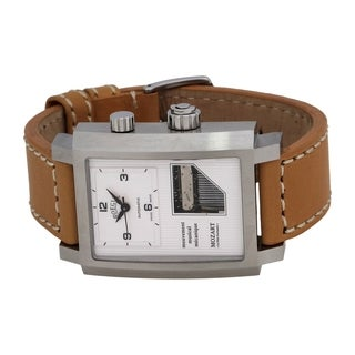 Boegli Men's Grand Festival Automatic Stainless Steel Caramel Leather Watch