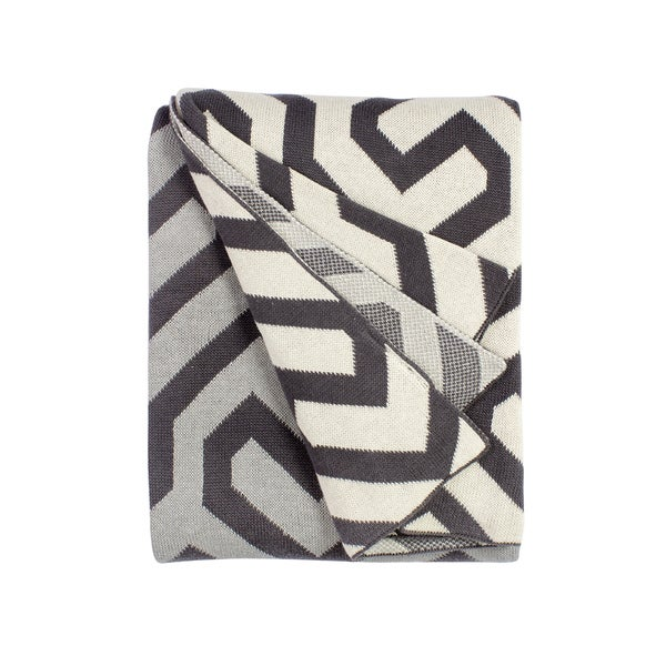 Symphony Grey Throw Blanket