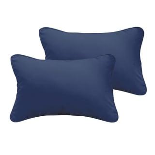Sloane Dark Blue 12 x 24-inch Indoor/ Outdoor Pillow Set