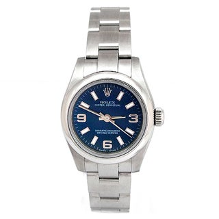 Pre-owned Rolex Women's Oyster Perpetual Blue Dial Watch
