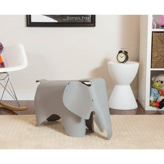 Somette Gavins Room Grey Elephant Chair