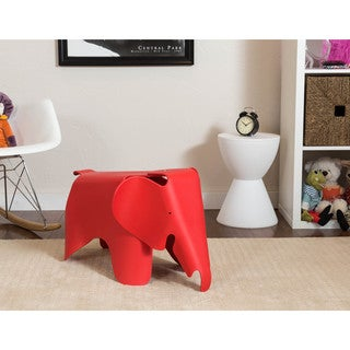 Somette Gavins Room Red Elephant Chair