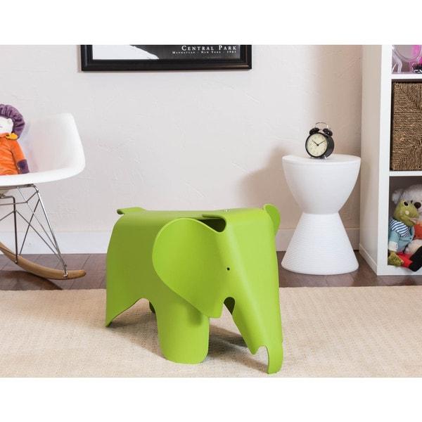 Somette Gavins Room Green Elephant Chair