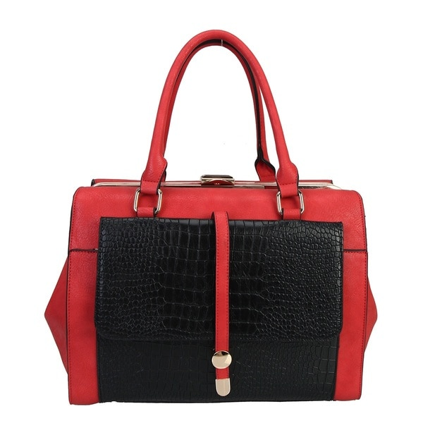 Diophy Crocodile Animal Print Tote